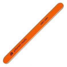 Planet Nails, Пилка стандартная, неоново-оранжевая, 180/180