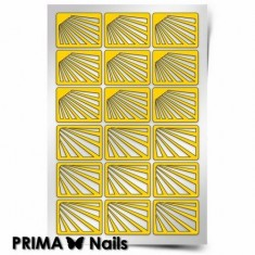 Prima Nails, Трафареты «Лучи солнца»