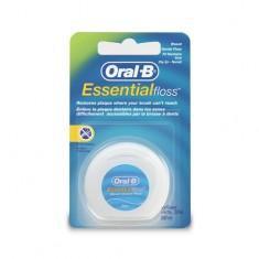 Нить зубная ORAL-B Essential вощеная мятная