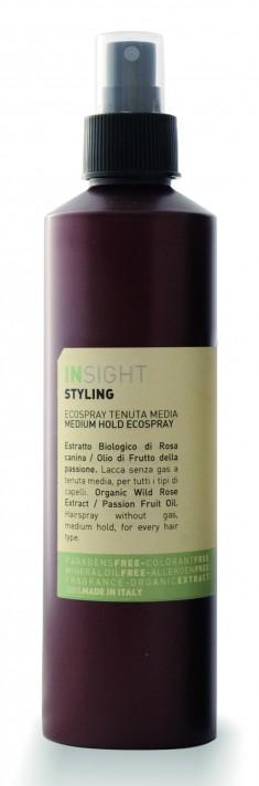 INSIGHT Лак-эко средней фиксации для волос, с экстрактом шиповника и маслом маракуйи / STYLING MEDIUM HOLD 250 мл