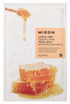 Тканевая маска с маточным молочком MIZON Joyful time essence mask royal jelly 23г