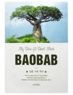Тканевая маска с баобабом A'PIEU My Skin-Fit Sheet Mask Baobab