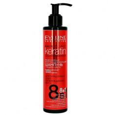 Шампунь для волос EVELINE KERATIN COLOR & REPAIR мицеллярный восстанавливающий 245 мл