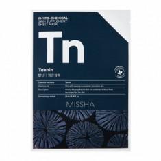 Маска тканевая с древесным углем MISSHA Phytochemical Skin Supplement Sheet Mask (Tannin/Purifying)