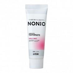Lion Nonio Профилактическая зубная паста для удаления неприятного запаха, отбеливания, очищения и предотвращения появления и развития кариеса, аромат фруктов и мяты, 130 гр