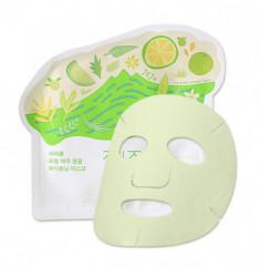 Маска для лица тканевая осветляющая Ciracle From Jeju Citrus Sudachi Whitening Mask 21г