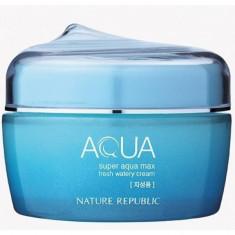 крем увлажняющий для жирной кожи nature republic super aqua max fresh watery cream