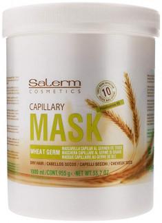 SALERM COSMETICS Маска питательная увлажняющая для волос / Wheat Germ 1000 мл