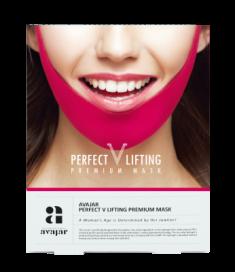 Маска лифтинговая (розовая) AVAJAR perfect V lifting premium mask 1 шт
