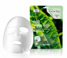Тканевая маска для лица ЗЕЛЕНЫЙ ЧАЙ 3W CLINIC Fresh Green tea Mask Sheet 10 шт