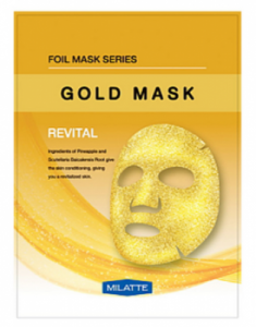 Маска тканевая витаминная MILATTE GOLD MASK REVITAL 23г