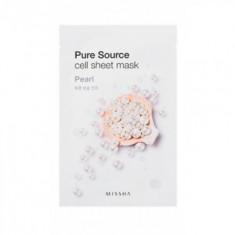 Маска тканевая Жемчуг MISSHA Pure Source Cell Sheet Mask (Pearl) 21г
