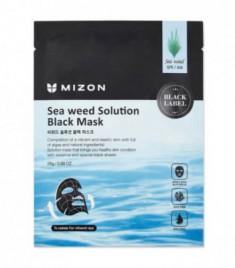 Тканевая маска с морскими водорослями MIZON Sea Weed Solution Black Mask