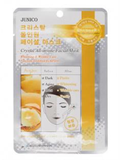 Маска тканевая c аргановым маслом Mijin Junico Crystal All-in-one Facial Mask Argan 25г