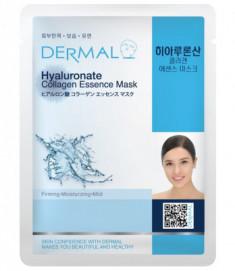 Тканевая маска гиалуроновая кислота и коллаген Dermal Hyaluronate Collagen Essence Mask 23 мл