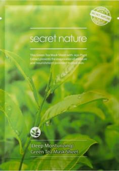 Тканевая маска для лица с зеленым чаем Secret Nature Deep Moisturizing Green Tea Mask Sheet 25 мл