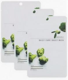 Набор Тканевых масок с экстрактом брокколи EUNYUL BROCCOLI DAILY CARE SHEET MASK 22г*3шт