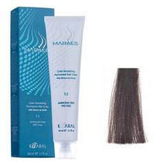 Крем-краситель стойкий без аммиака Kaaral Maraes Nourishing Permanent Hair Color 4.1 пепельный каштан 60 мл