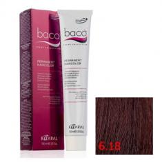 Крем-краска Kaaral Baco Color 6.18 темный блондин пепельно-коричневый 100 мл
