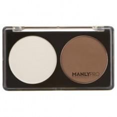 Палитра сухих корректоров 2 цвета (белый + холодно-коричневый) Manly Pro П06